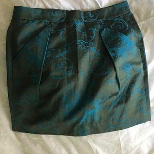 J Crew Lined Miniskirt